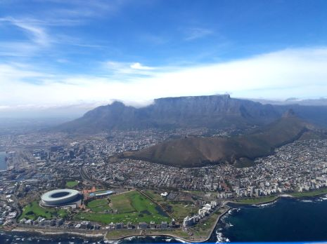 Epic View of Capetown from the helicopter